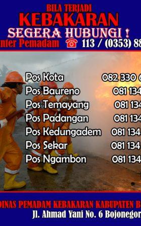 Call Center Pemadam Kebakaran Bojonegoro
